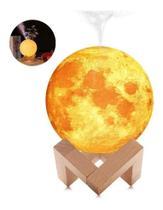 Abajur Luminária Touch Umidificador Ar Lua Cheia Light 3d - 3D Moon