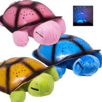 Abajur tartaruga de pelucia som e luz led bebe musical luminaria infantil com projetor de estrelas - Makeda