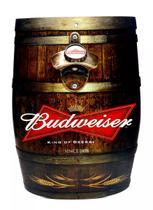 Abridor de Garrafa C/ Ímã e Adesivo Budweiser formato Barril Cerveja - Joy