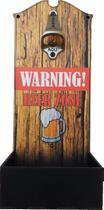 Abridor De Garrafa De Parede Decorativo Warning Beer - Rgr Visual