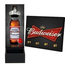Abridor De Garrafa De Parede e Porta Chave Budweiser Mdf - D.Lima Produtos