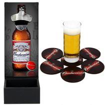 Abridor De Garrafa e Bolacha Porta Copos Budweiser Cerveja Beer - D Lima Produtos