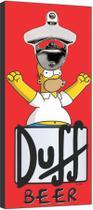 Abridor De Garrafa Magnético Cervejas Duff Homer Simpsons - Vital Quadros