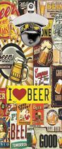 Abridor De Garrafa Magnético Parede Cerveja Bar Churrasco Vintage Love Beer - Vital Quadros