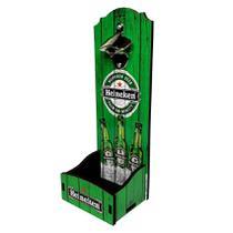 Abridor de Garrafa Parede Grande Cerveja Verde 34x12x12cm - Davys