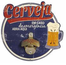 Abridor de Garrafas Parede Bar Churrasqueira - Cerveja Em Caso de Emergência - The Home