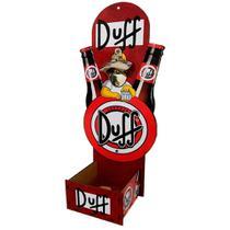 Abridor de Garrafas Porta Tampinhas de Parede Decor - Cerveja Duff Beer - Retrofenna Decor