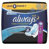 Abs  Always Noturno Seca  28cm c/ abas c/ 8 - Procter & Gamble
