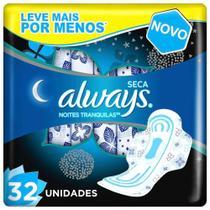 Absorvente Always Active Noturno Seca Com Abas Leve 32 Pague 28 -