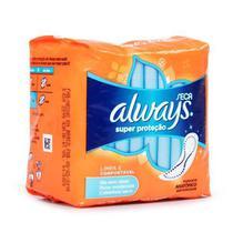 Absorvente always cobertura seca com abas 8 unidades - Procter & Gamble Do Brasil S/A