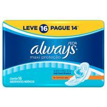 Absorvente Always Maxi Proteção Cobertura Seca Com Abas -