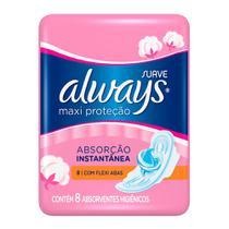 Absorvente Always Maxi Proteção Cobertura Suave com Abas -