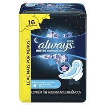 Absorvente Always Noites Tranquilas Cobertura Seca com Abas 28cm Leve 16 Pague 14 -