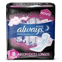 Absorvente Always Noites Tranquilas Cobertura Suave Com Abas Leve 8 Pague 7 -