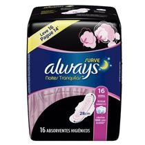 Absorvente Always Pink Suave Noturno Com Abas Leve 16 Pague 14 -