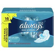 Absorvente Always Proteção Total Cobertura Seca com Abas Leve 16 Pague 14 -