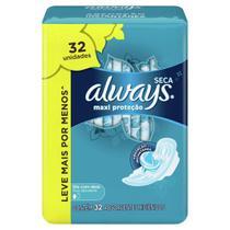 Absorvente Always Proteção Total Seca Com Abas - 32 unidades -
