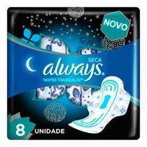 Absorvente Always Seca Noites Tranquilas c/8 Unidades -