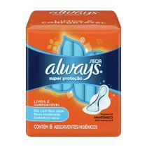 Absorvente Always Super Proteção Cobertura Seca Com Abas (8un) -