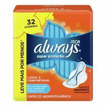 Absorvente Always Super Proteção Cobertura Seca com Abas -