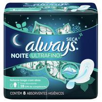 Absorvente Always Ultrafino Noites Tranquilas Seca com abas 8 Unidades -