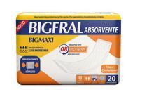Absorvente Bigmaxi com 20 Unidades Bigfral -