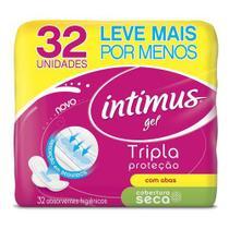Absorvente com abas seca tripla proteção intimus pacote 32 unidades -