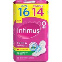 Absorvente Externo INTIMUS Tripla Proteção Seca c/ Abas Leve 16 Pague 14 - 16 unidades -