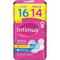 Absorvente Externo INTIMUS Tripla Proteção Suave c/ Abas Leve 16 Pague 14 - 16 Unidades -