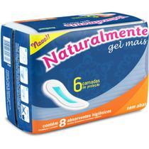 Absorvente Higienico Naturalmente GEL Mais sem ABAS PCT com 08 - GNA