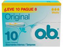 Absorvente Interno Dia e Noite O.B. Original - 10 Unidades
