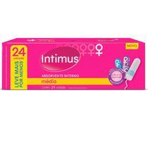 Absorvente interno intimus médio pague 22 leve 24 unidades -