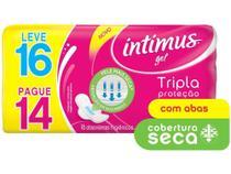 Absorvente Intimus com Abas 16 Unidades Gel - Tripla Proteção -