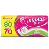 Absorvente Intimus Days Odor Control com Perfume 80 Unidades -
