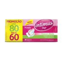 Absorvente Intimus Days Protetor Diario Sem Abas Sem Perfume Leve 80 Pague 60 - Embalagem c/ 80 unidades -