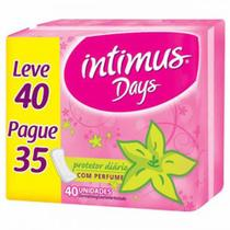 Absorvente intimus days sem abas com perfume leve 40un. pague 35un. - KIMBERLY-CLARK