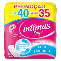 Absorvente Íntimus Days Sem Perfume 40 Unidades - Intimus