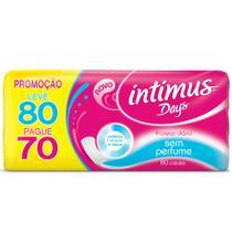 Absorvente Intimus Days Sem Perfume 80 Unidades -