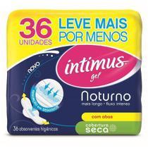 Absorvente Intimus Gel Noturno Cobertura Seca C/Abas - 36unidades - Kimberly clark