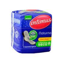 Absorvente Intimus Gel Noturno Com Abas Seca 8 Und -