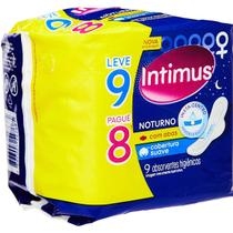 Absorvente intimus gel noturno suave com abas leve 9 pague 8 -