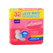 Absorvente Intimus Gel Tripla Proteção C/ Abas Suave 32 Und -