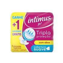 Absorvente intimus gel tripla protecao extra suave com abas 9 unidades - Perfumaria