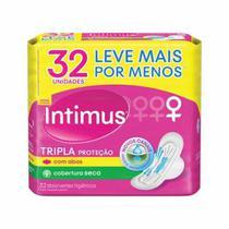 Absorvente Intimus Gel Tripla Proteção Seca C/ Abas 32 Unid -