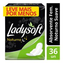 Absorvente Ladysoft Noturno Suave Com Abas Com 36 Unidades -