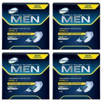 absorvente masculino tena men formato confortável aprovado por milhões de homens 4x 10 unidades -