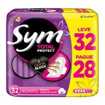 Absorvente Sym Total Protect Cobertura Suave com Abas -