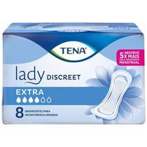 Absorvente Tena Lady Discreet Extra Geriátrico Embalagem com 8 Unidades -