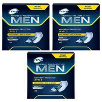 absorvente tena men ideal para incontinência urinária leve evita odores desagradáveis 3x 10 unidades -
