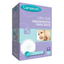 Absorventes para Seios Descartáveis Ultra Soft - 12 Unidades - Lansinoh